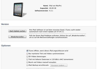 iPad mit iTunes verbinden
