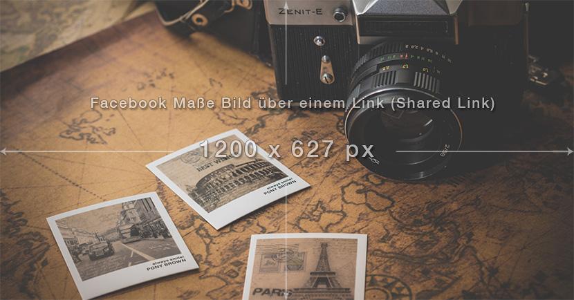 Facebook Maße Bild über einem Link (Shared-Link) Beispielfoto
